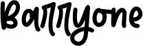 Barryone Font