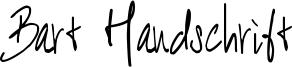 Bart Handschrift Font