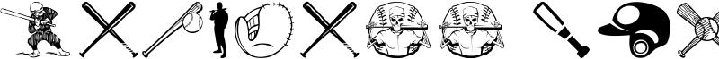 Baseball Icons Font