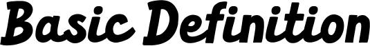 Basic Definition Font
