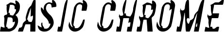 Basic Chrome Font