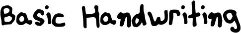 Basic Handwriting Font
