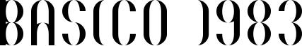 Basico 1983 Font