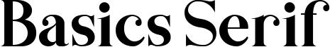 Basics Serif Font