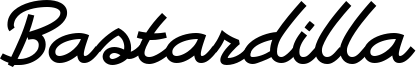 Bastardilla Font