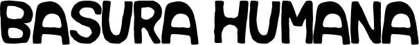 Basura Humana Font