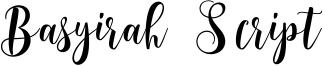 Basyirah Script Font