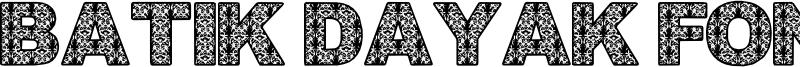 Batik Dayak Font Font
