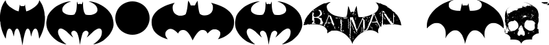 Batman Evolution Logo Font