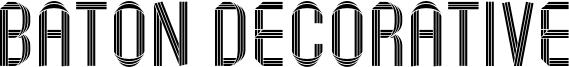 Baton Decorative Font