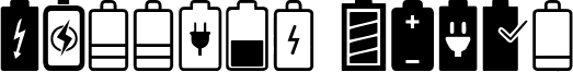 Battery Icons Font