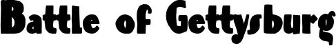 Battle of Gettysburg Font