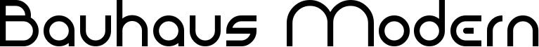 Bauhaus Modern Font
