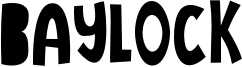 Baylock Font