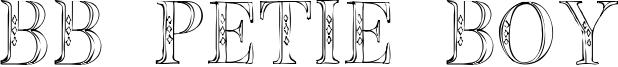 BB Petie Boy Font
