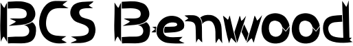 BCS Benwood Font