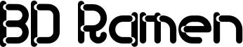 BD Ramen Font