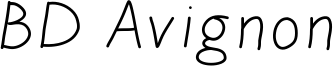 BD Avignon Font
