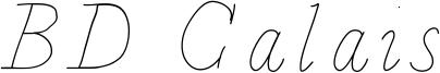 BD Calais Font