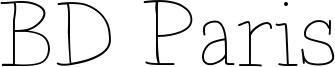 BD Paris Font
