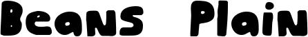 Beans Plain Font