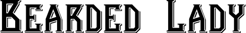 Bearded Lady Font