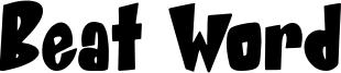 Beat Word Font