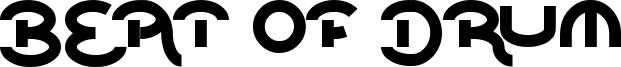 Beat of drum Font
