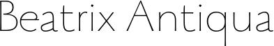 Beatrix Antiqua Font