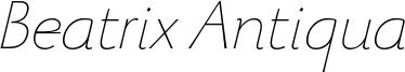 BeatrixAntiqua-ThinItalic Trial.ttf