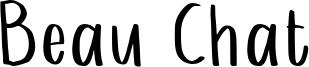 Beau Chat Font