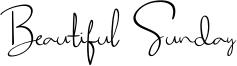 Beautiful Sunday Font