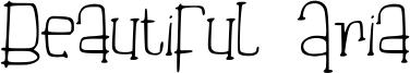 Beautiful Aria Font