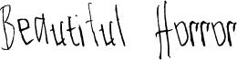 Beautiful Horror Font