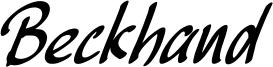 Beckhand Font
