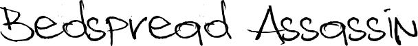 Bedspread Assassin Font