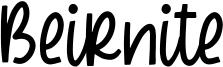 Beirnite Font