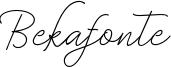 Bekafonte Font
