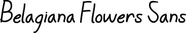 Belagiana Flowers Sans Font