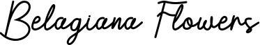 Belagiana Flowers Font