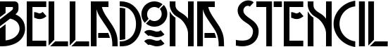 Belladona Stencil Font