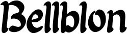 Bellblon Font