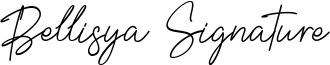 Bellisya Signature Font