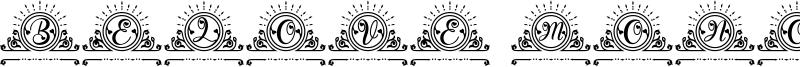 Belove Monogram Font