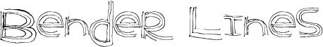 Bender Lines Font
