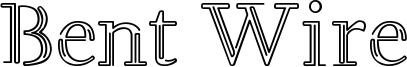 Bent Wire Font