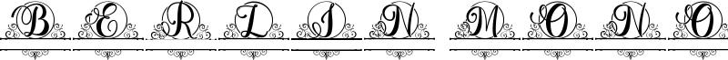 Berlin Monogram Font
