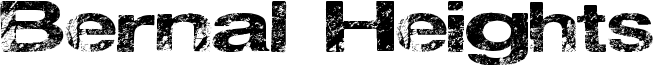 Bernal Heights Font