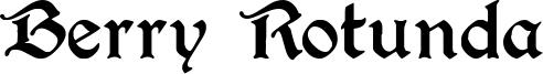Berry Rotunda Font