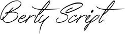 Berty Script Font